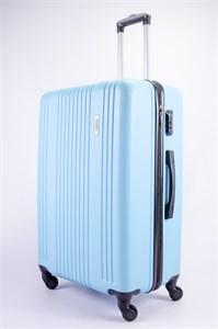 Чемодан большой ABS OCCE (15 полос) голубой