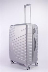 Чемодан большой ABS OCCE (вафли) серебро
