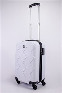 Чемодан маленький ABS Longstar (ромбики) белый
