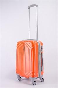 Чемодан маленький ABS Корона (Лилия) оранжевый