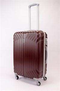 Чемодан средний ABS Корона (Лилия) коричневый