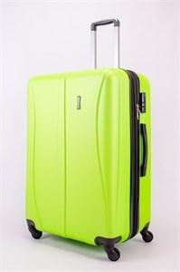 Чемодан большой ABS Freedom (трезубец с расширением) кислотно-зеленый