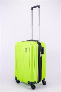 Чемодан маленький ABS Freedom (трезубец с расширением) кислотно-зеленый (Ч)