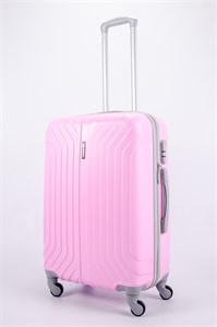 Чемодан средний ABS Корона (Лилия) розовый СФ