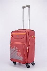 Чемодан текстильный средний Impreza (с аппликацией) красный съемные колеса