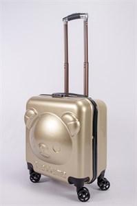 """Детский чемодан с объемным рисунком """"Мишка"""" песочный PC"""