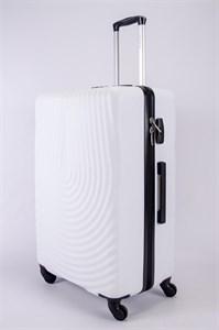 Чемодан большой ABS MIRONPAN (капля) белый
