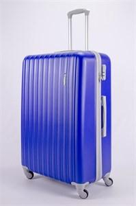Чемодан большой ABS TT (верт  полоски) ярко-синий