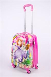 Детский чемодан PC на колесиках розовый 13346