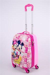 Детский чемодан PC на колесиках розовый 13342