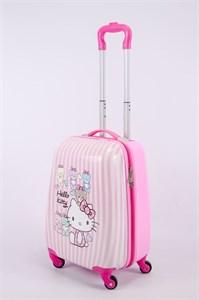 Детский чемодан PC на колесиках розовый 13343