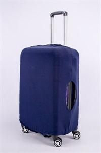 """Чехол для среднего чемодана """"однотонный темно-синий"""" 13371"""