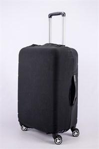 """Чехол для среднего чемодана """"однотонный черный"""" 13378"""