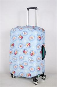 """Чехол для среднего чемодана """"девочка с сестрой"""" 13392"""