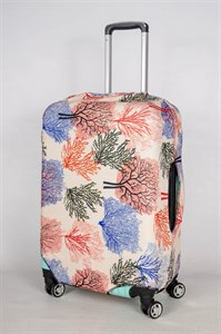 """Чехол для среднего чемодана """"разноцветные деревья на бежевом фоне"""" 13395"""