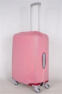 """Чехол для среднего чемодана """"красные и белые вертикальные полосы"""" 13400"""