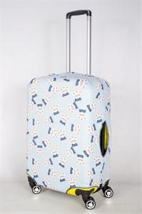 """Чехол для среднего чемодана """"коты на голубом фоне"""" 13401"""