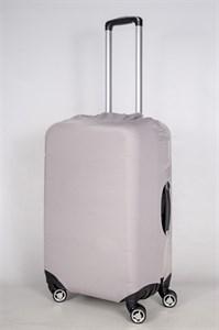 """Чехол для среднего чемодана """"однотонный серый"""" 13419"""