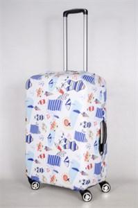 """Чехол для среднего чемодана """"пляжный инвентарь"""" 13435"""