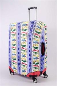 """Чехол для большого чемодана """"цветные коты"""" 13458"""