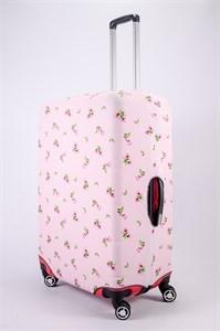 """Чехол для большого чемодана """"маленькие цветочки на розовом фоне"""" 13460"""