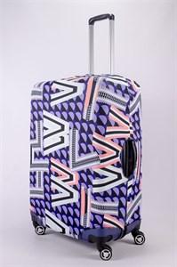 """Чехол для большого чемодана """"геометрический беспорядок"""" 13461"""