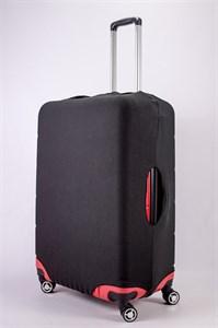 """Чехол для большого чемодана """"однотонный черный"""" 13478"""