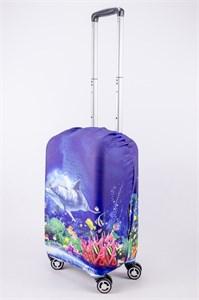 """Чехол для маленького чемодана """"подводный мир""""  13519"""