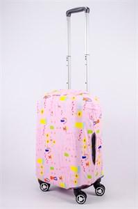 """Чехол для маленького чемодана """"детский рисунок mamma!"""" 13549"""