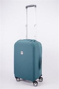 """Чехол для маленького чемодана """"однотонный серо-зеленый"""" 13554"""