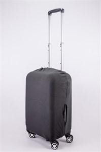 """Чехол для маленького чемодана """"однотонный черный"""" 13563"""