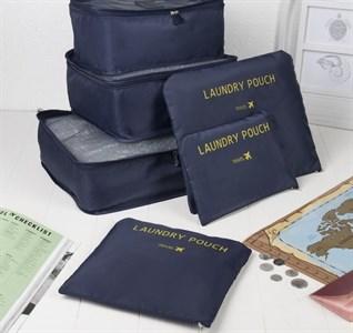 Набор для путешествий (косметичек 6 в 1), отдел на молнии, цвет синий  3019944