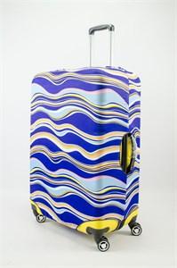 """Чехол для большого чемодана """"волнистые разноцветные линии"""" 13472"""