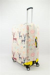 """Чехол для большого чемодана """"Олени на светлом фоне"""" 13614"""