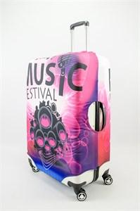 "Чехол для большого чемодана ""Music festival"" 13508"