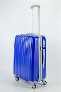 Чемодан средний ABS KK  (верт  полосы) ярко-синий