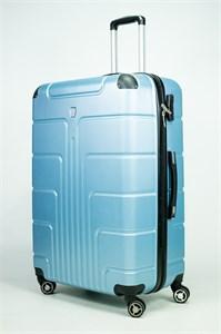 Чемодан большой PC голубой металлик 00768-У (уценка) (2)