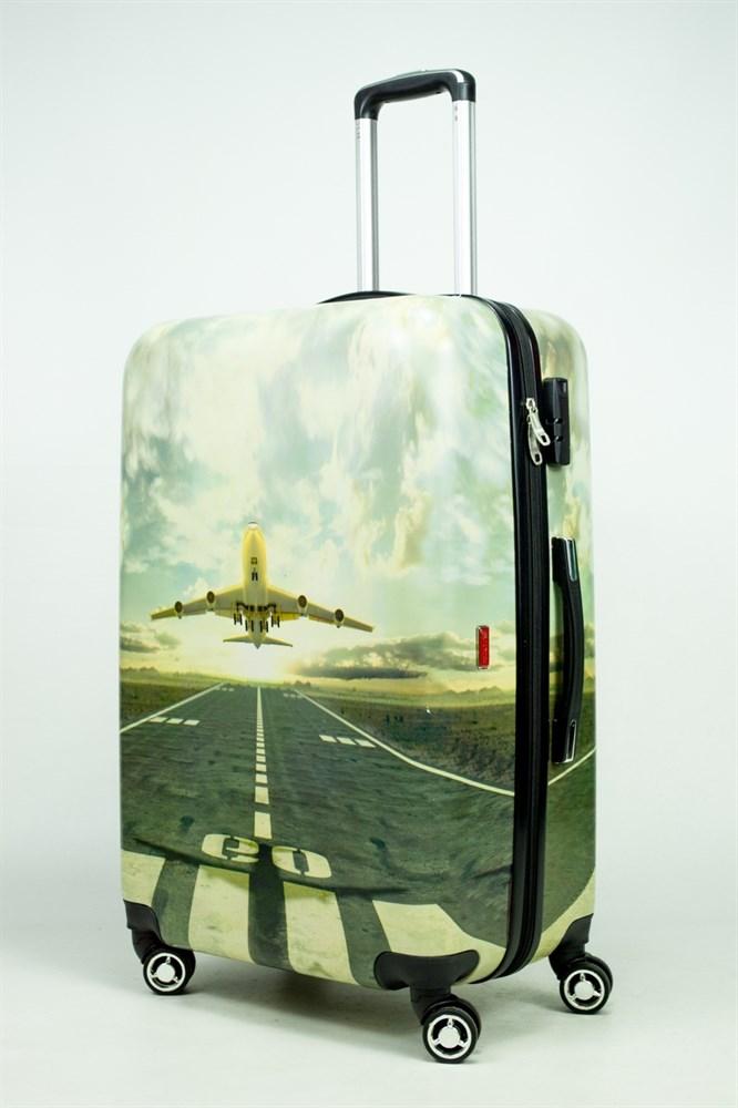 чемодан с картинками самолет полностью заменят