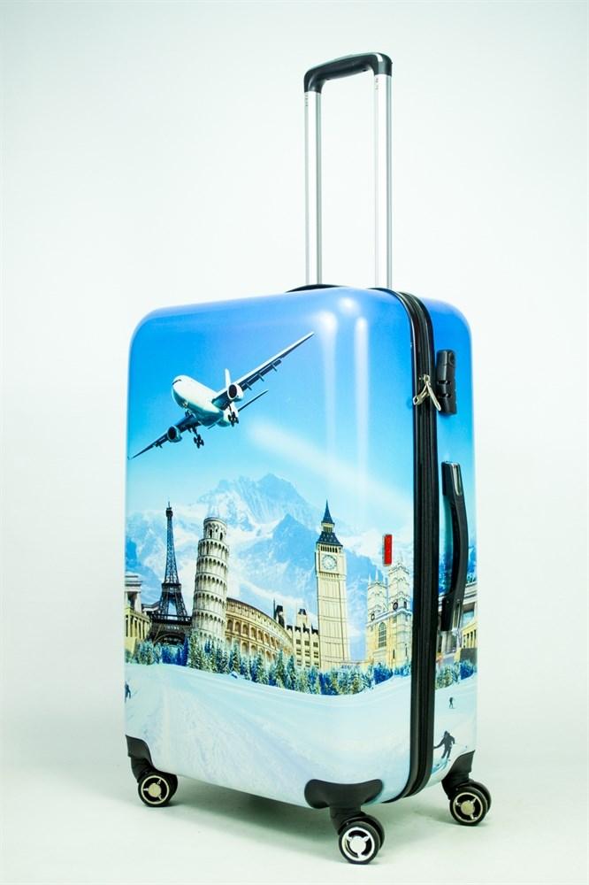 чемодан с картинками самолет дарят нам