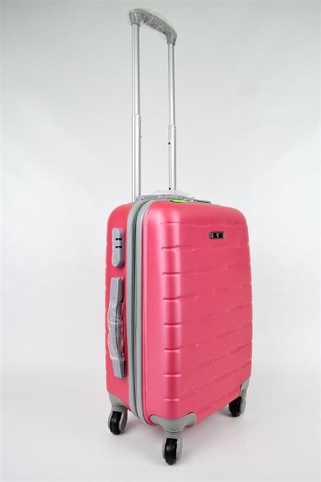 Чемодан Пластиковый 5814 Розовый - фото 20053