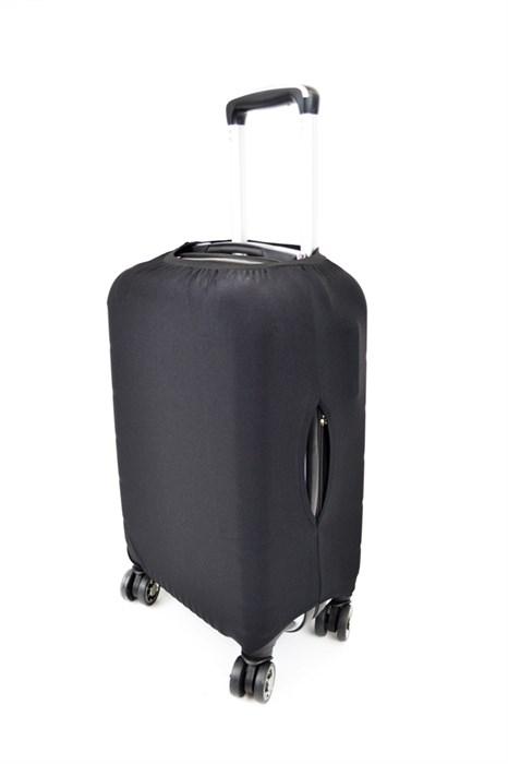 Чехол на чемодан средний черный - фото 21083