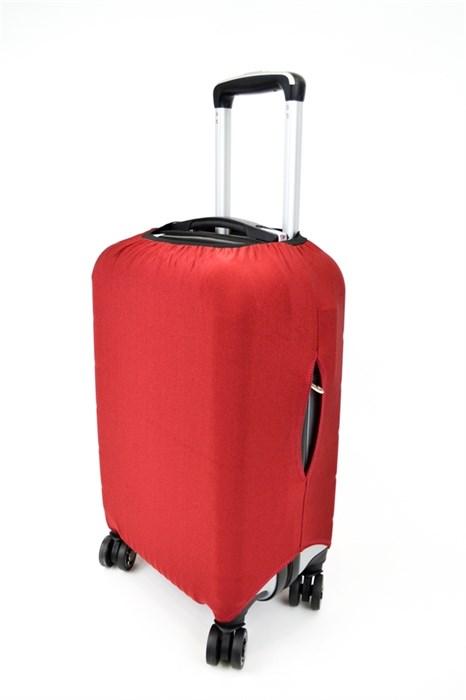 Чехол на чемодан средний красный - фото 21085