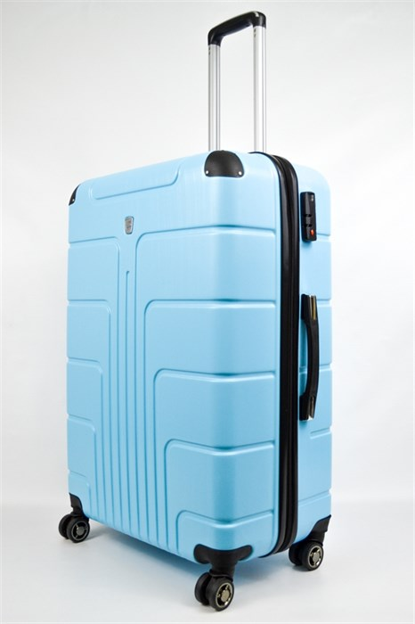Чемодан большой PC голубой небесно - фото 21721