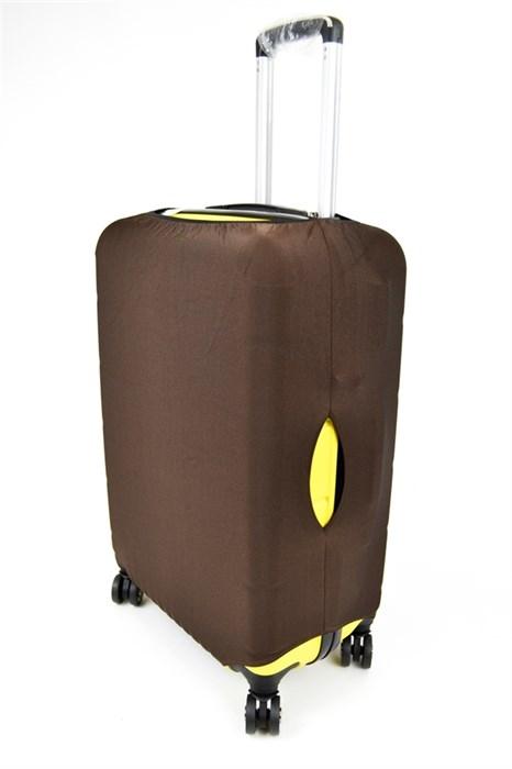 Чехол для чемодана маленький коричневый 00665 - фото 23733