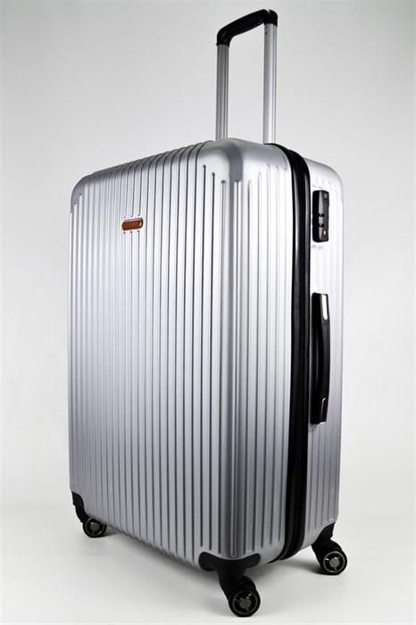 Чемодан большой ABS NL серебро - фото 24204
