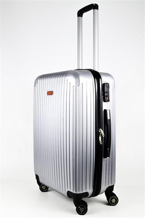 Чемодан средний ABS NL серебро - фото 24274