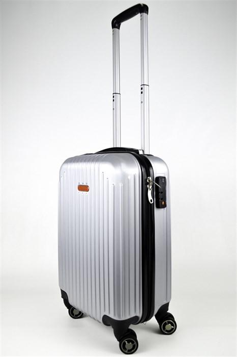 Чемодан маленький ABS NL серебро - фото 24325