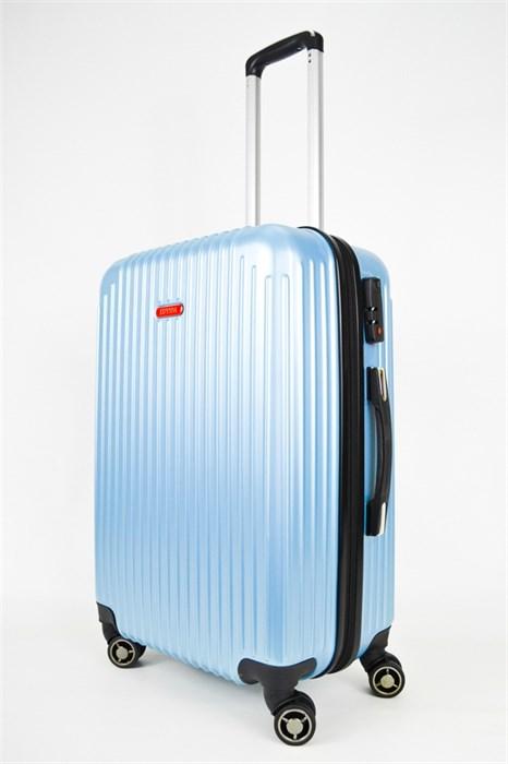 Чемодан средний ABS NL голубой - фото 25020