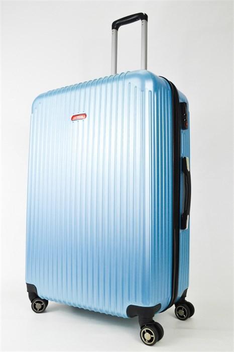 Чемодан большой ABS NL голубой - фото 25027