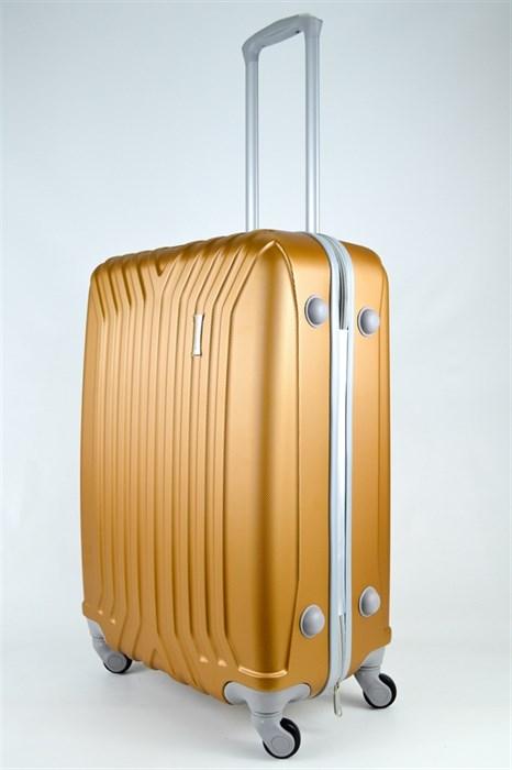 Чемодан средний ABS (У-образный) золото - фото 25174